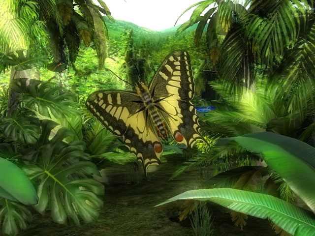 86d4d6a71de36542cb85c0d9079ecec2_Butterfly_Jungle_3D_Screensaver