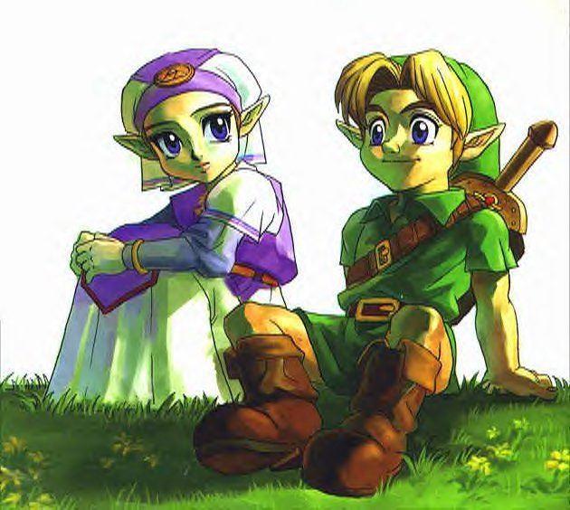 Zelda-and-Link-Ocarina-of-Time-the-legend-of-zelda-401267_630_564